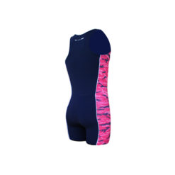 Take it to WIN rowing unisuit with camouflage pattern in pink color