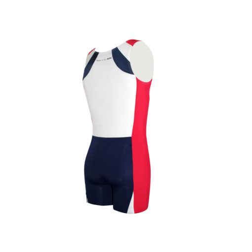 Take it to WIN rowing unisuit in navy, white and red