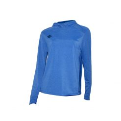 Take it to win Long sleeve shirt with hood, blue color, unisex