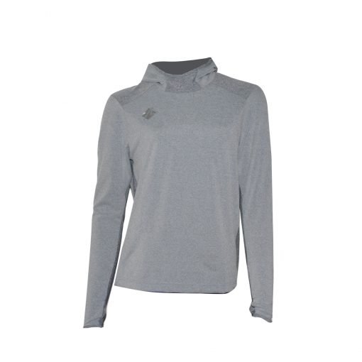 Take it to win Long sleeve shirt with hood, grey color, unisex